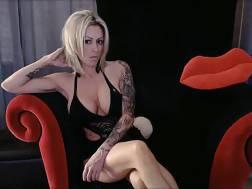 Busty Tattooed blonde