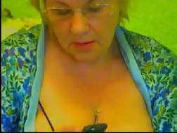 Blonde bbw grandmother
