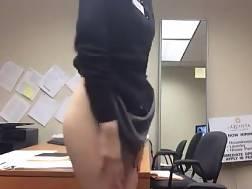 hotel office masturbating
