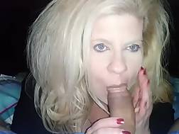 blond wife knees giving