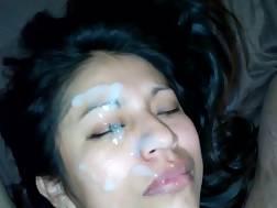 cute girlfriend got face