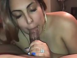 boobed nymph blowing hard