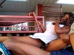 ebony couple gets kinky