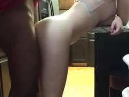 interracial kitchen quickie