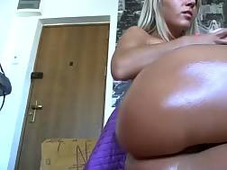 oiled chick drills twat