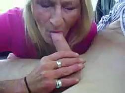 Sleazy mature blond
