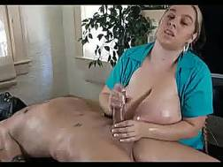 Huge-breasted masseuse
