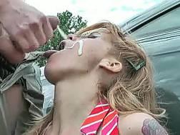 tattooed slut milks cock