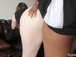 Curvy white brunette