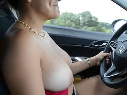 big busty wife driving