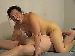 training pecker darkhaired milf