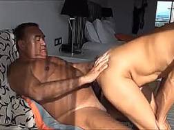asian banged behind