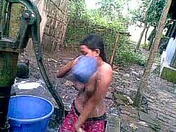 bathing bitch enjoys