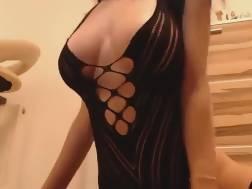 a black boobed brunette