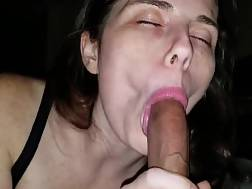 black blowing brunette