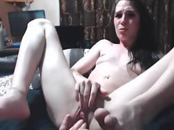 skinny girl spreads legs