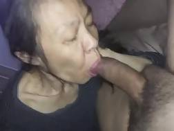 Asian MILF blowing