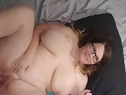 Fat wife gets jizz