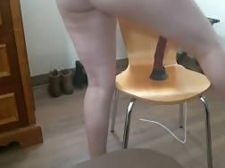 a chair dildo fucktoy