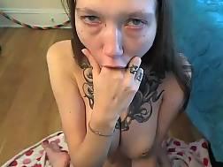 kinky tattooed girl make