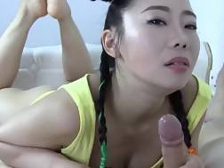 a asian blowing