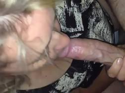 Blond MILF sucking