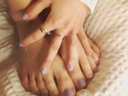 cute feet exposing