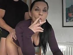 gf smokes doggystyle sex