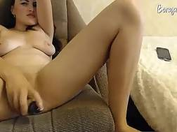 Flirty camgirl with