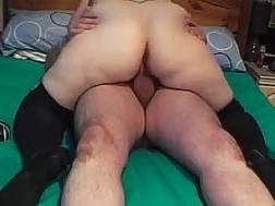 My plump wife wearing