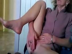 Grandma rubs her