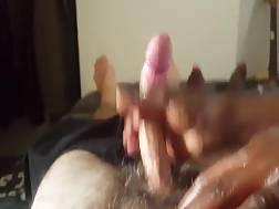 a black cock cums