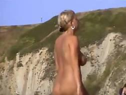 at beach big boobs