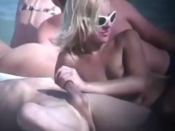 nude girlie sucking beach