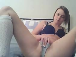 british bitch shoves panties