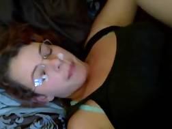 nerdy bitch taking creamy
