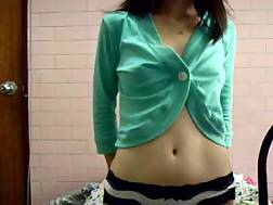 asian college girlie solo