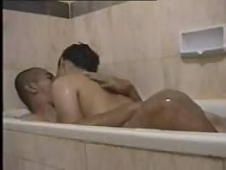 asian teens bathtub foreplay