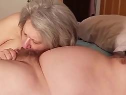 a blowing cock grandmother