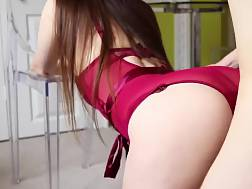 sexual brunette chick gets
