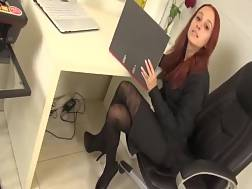 sexy secretary blow job