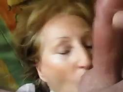 grandmother licks nutsack facial