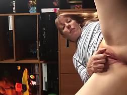 mature wifey floor touching