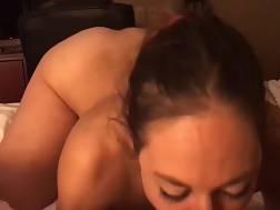 girlfriend takes pecker mouth