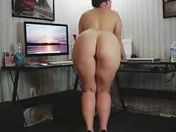 huge backside dancing