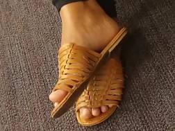 candid pecker draining foot