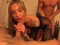 sexual slut fucks two