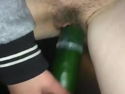 bitch drills vagina cucumber