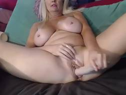 boobed cougar teases curves