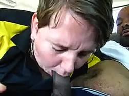 fat short-haired milf blowjob